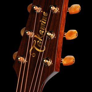 Gitara akustyczna Takamine P4DC - główka pod kątem